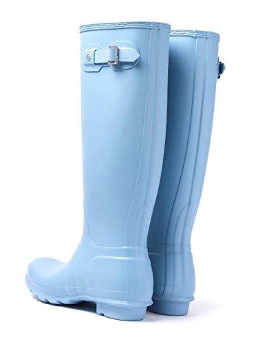 Hunter Original Tall Damen Stiefel Blau Blau