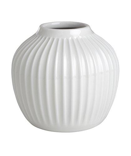 Kähler Hammershøi Vase Keramik Weiß 12,5 x 13,5 cm