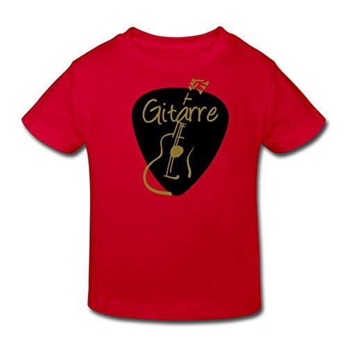 Gitarrist Gitarre Kinder Bio-T-Shirt, 152 (11-12 Jahre), Rot ()