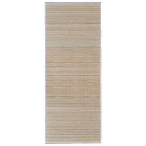 vidaXL Bambusteppich Teppich Matte Läufer Vorleger Bambusmatte Küchenteppich