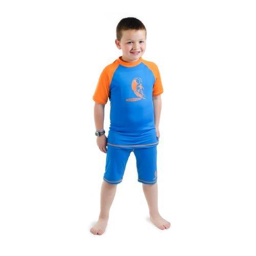 Bañador camiseta y pantalones de licra con protección solar UV +50 para  niños 96105de5efc