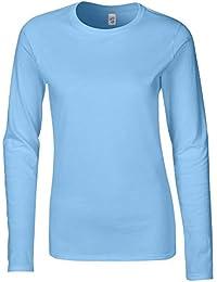 Blue Seven Damen-Langarmshirt Von mit Perlen Maglia a Maniche Lunghe Donna