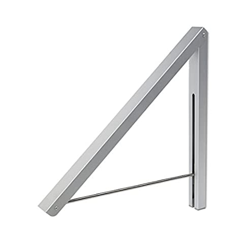 Anjuer Folding Clothes Drying Rack Airer Wall Mounted Coat Hanger Rack Space Saving Home Bedroom Storage Suit Hangers Silver