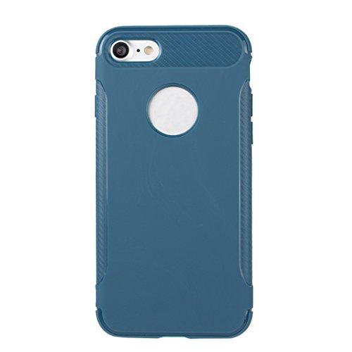 iPhone 7 Hülle, Asnlove Ultra Slim TPU Silikon Backcover Case Taschen Handy Schutzhülle Rutschfest für iPhone 7 4.7 Zoll - Grau Style-10