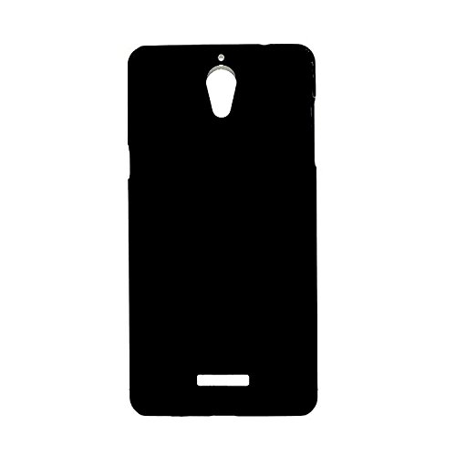 WOW Imagine Rubberised Matte Hard Case Back Cover For Coolpad Mega 2.5D – Pitch Black