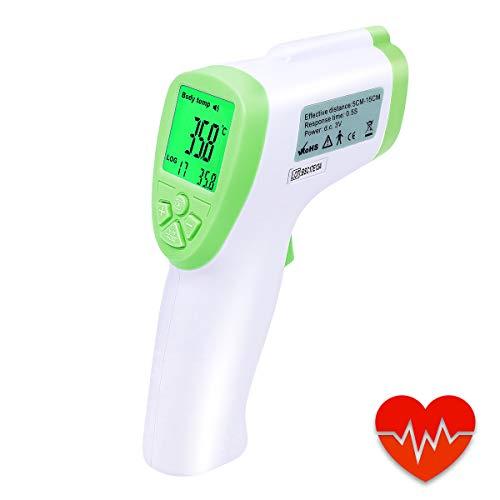 Thermomètre Frontal et Oreille pour Bébé ,YUKICARE Infrarouge Auriculaire Numérique Médical Sans Contact pour Surface de l'Objet et Température Ambiante – FDA et certifié CE