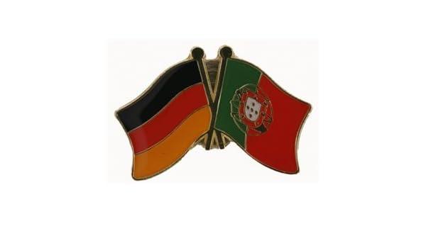 Yantec Freundschaftspin Deutschland-Portugal Pin Flagge