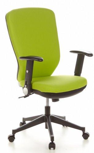 hjh OFFICE 653635 Bürostuhl Drehstuhl TRAFFIC 30 Stoff apfelgrün, Bürodrehstuhl ergonomisch, hohe...