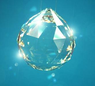 Geschenkbox mit Kristall Glas Kugel 30mm SPECTRA® CRYSTAL von Swarovski - für Lüster und Kronleuchter - Fenster Dekoration - Feng Shui - Regenbogeneffekt von premium-kristall© Geschenkboxen bei Lampenhans.de