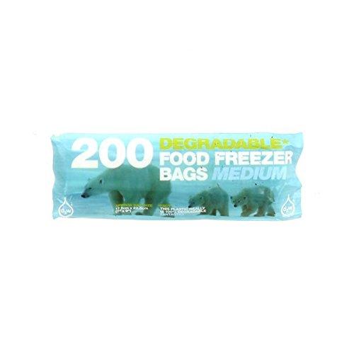 D2W | Degradable Medium Freezer Bags | 4 x 200 bag (UK)