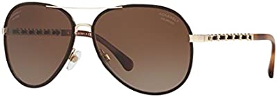 CHANEL CH4219Q C395S9 OCCHIALE DA SOLE MARRONE BROWN SUNGLASSES SONNENBRILLE NEW