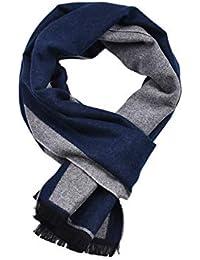 yulinge Hommes Hiver Laine Écharpe Douce Et Chaude Coton Classique Souple  Confortable Cachemire Foulards Cadeau de 25a85b37522