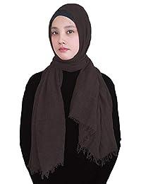 Lina   Lily Hijab pour Femmes Foulard Écharpe Turban Châle Islamique, ... ba5a05166f2
