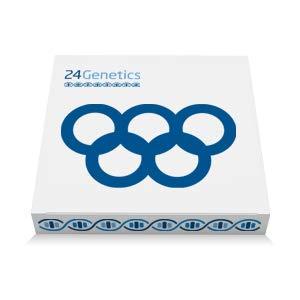 24Genetics - Test de ADN Deporte - Prueba Genética Deportiva para el rendimiento y prevención de lesiones. Incluye kit de adn