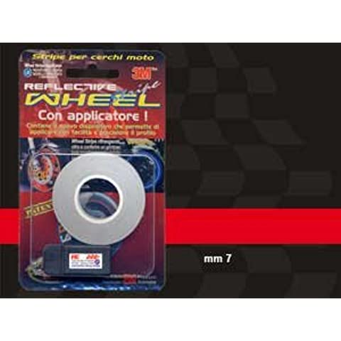 Wheel Stripes Rifrangent Rosso 7 mm x 6 mt con applicatore