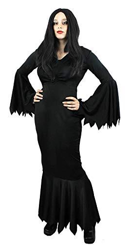 ILOVEFANCYDRESS Gothic Familie KOSTÜM VERKLEIDUNG COMPLETTE Familien VERKLEIDUNG Fasching Halloween Karneval=DIE Dame des - Morticia Und Gomez Kostüm
