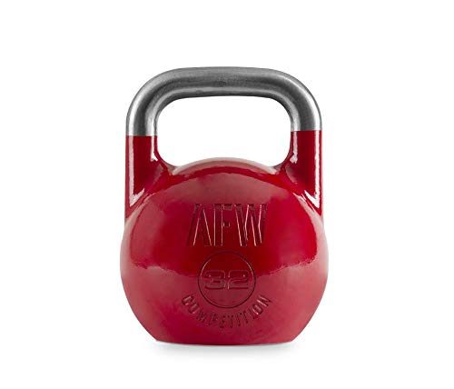 AFW Competition Kettlebell, Pesa Rusa, Adultos Unisex, Rojo, 32 kg
