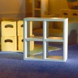 Dolls House Mensola bianco 4 Scomparti Casa delle bambole 3695