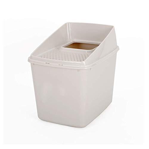 MRXUE Katzenstreu-Box/Hooded Cat Pan Vollständig Eingeschlossen/Wurf Tablett Toilette, Große Spritzwasserdichte Hygienische, Deodorierende Geruch Frei Grau -