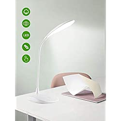 Lampada da Tavolo a LED Dimmerabile LEIMIGO Lampada da Lettura Protezione degli Occhi, Lampada da Scrivania a LED Touch Sensitive, 3-Level Adjustable Brightness LED Reading Light