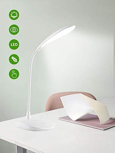 Lampada da Tavolo a LED Dimmerabile LEIMIGO Lampada da Lettura Protezione degli Occhi, Lampada da Scrivania a LED Touch Sensitive, 3-Level Adjustable Brightness LED Reading Light