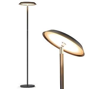 Stehlampe,LED-dimmbare moderne hohe Stehlampen,industrielles Büro-Stehlampen-Standmastlicht,TECKIN-Noten-Steuerleselicht…