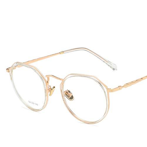 Jsfnngdv Brillengestell Anti-Blue Light ultraleichte Brillengestell für Damen Herren Anti Blue Light Brillen (Color : Clear)