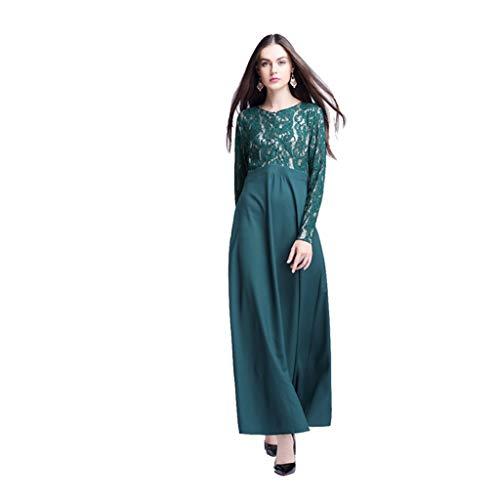 URIBAKY Damen Muslim Kleid,Moslemischer Loser,Casual Normallack-Kleidungs-Kleid der Frauen Abaya islamischer arabischer Kaftan