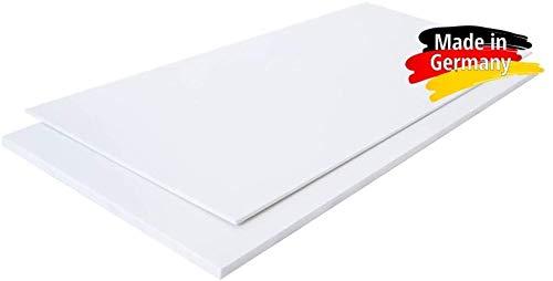 Polystyrol Polystyrolplatte (PS) WEIß und SCHWARZ Verschiedene FORMATE, Stärken: 1mm, 2mm, 3mm, 4mm, 5mm TOP QUALITÄT, Modelbau, Schilder, Bastelplatte (49 x 49cm, 3mm WEIß)