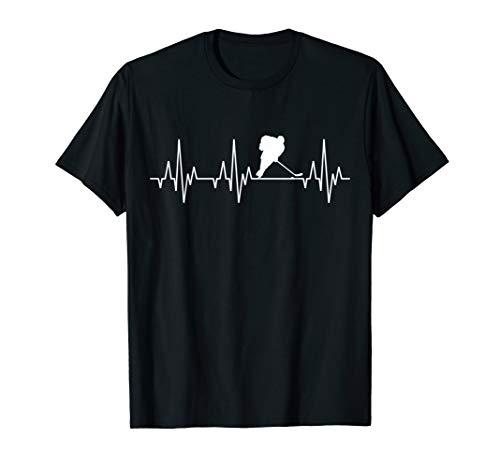 Eishockey Herzschlag T-Shirt Eis Hockey Spieler Mannschaft - Eishockey T-shirt
