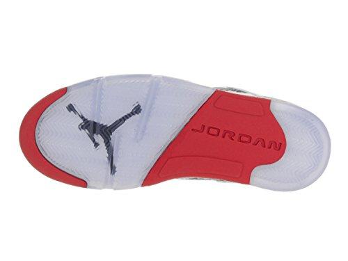Nike Erano fuoco Rosso Di Bassi Rosso 40 Nero Bianco Basket Dell'uomo Air 5 nero Jordan Retro Bianco Scarpe Sport Da 5 Bianco qqArw