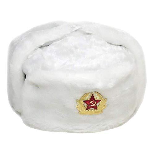 af5f9cb169d Hi Fashionz Sombrero de trampero Ruso Sombrero con Insignia sovi Tica Piel  Sint tica