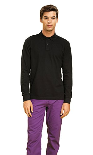 Asquith & Fox Mens Long Sleeved Polo - Black or Navy / Sml-5XL Navy