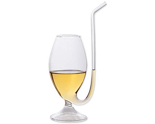 ds. distinctive style DSstyles 7 x 6,5 x 23,5 cm 300ml Brandy Rohr Schlürfen Glas Port Pipe Port Sipper Weinglas Tasse Becher mit Trinken Tube Stroh - Port Sippers
