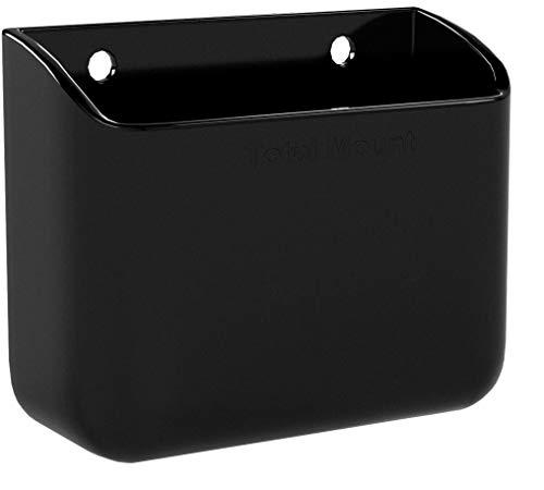 TotalMount Universelle Halterung für eine Fernbedienung TV Wandhalterung Tischhalter Aufbewahrungs Kasten für 2 Fernbedienung nebeneinander im Dopplepack 2er Pack