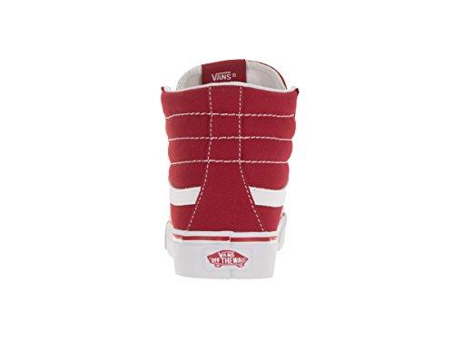 Vans Unisex-Erwachsene Sk8-Hi Slim Hohe Sneakers Racing Red/True White