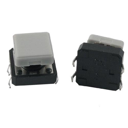 Sourcingmap® 5X Momentary Taktile Push Button Switch 12x 12x 9mm 4-Pin DIP durch Loch W Cap de Momentary Contact Push-button