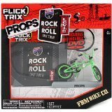 Spinmaster Flick Trix Fingerbike Real Bikes, Unreal Tricks BMX Bicycle Miniature Set - Green Color FBM BIKE CO. with Display Base and DVD Props Rock N Roll BMX Tour by Levis by Flick Trix