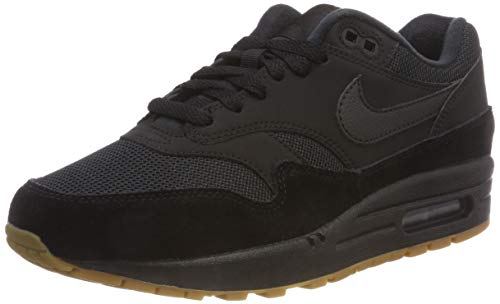 Nike Herren Air Max 1 Fitnessschuhe,Schwarz (Black/Gum Med Brown 007)7, 44 EU (Air 1 Max)