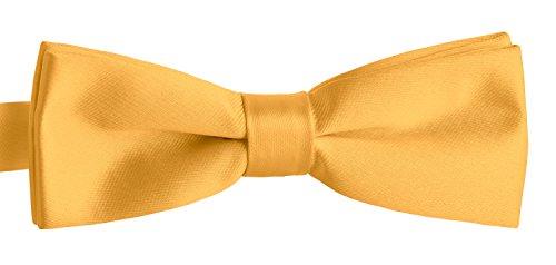 BomGuard Fliege für Herren gelb I Männer Fliege für Hochzeit, Party oder edele Anlässe I Trendy Bow Tie I Schleifen schmale Fliege