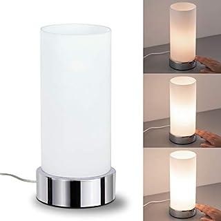 Paulmann 770.29 Pinja Tischleuchte touch max.1x40W E14 Chrom/Opal 230V Metall/Glas 77029 Nachttischlampe Nachtlicht