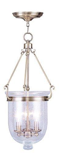 Livex Lighting 5084-01 Jefferson 3-Light Chain Hang, Antique Brass by Livex Lighting -