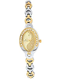 Escort Analog Golden Dial Women's Watch- 3019 TM