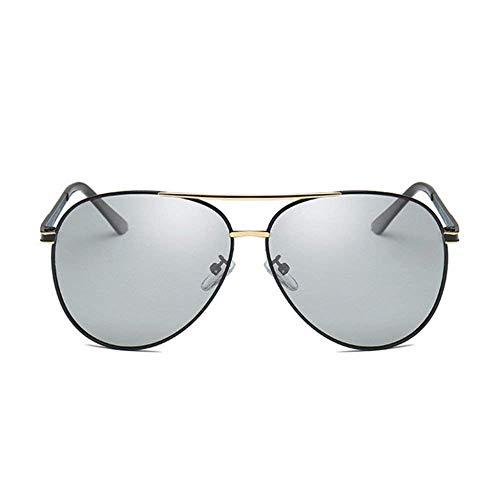 Yuany Herren Sonnenbrillen Damen Lichtempfindliche Farbe Polarisierte Sonnenbrillen Herren Tag und Nacht UV Shing mit doppeltem Verwendungszweck