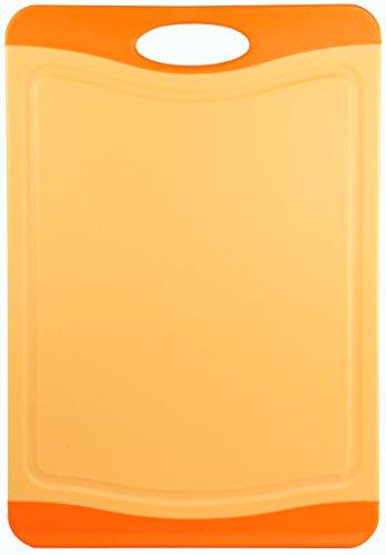 culinario Schneidebrett Orange ca. 29 x 20 cm, mit Saftrinne, beidseitig verwendbar
