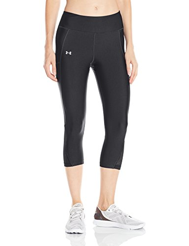 Under Armour Fly By Capri Damen Running - Kompressionswäsche/Hosen, Black/Reflective, S, 1297933