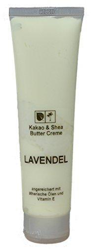 Kakaobutter Creme Lavendel 100 ml für die Hände und den Körper