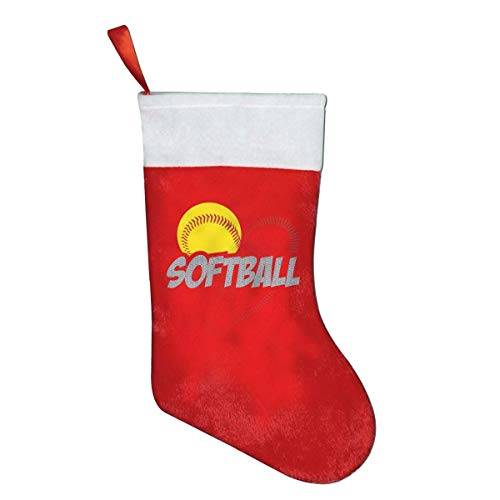 YudoHong Love Softball Novelty of Fashion Christmas Stocking Printed Christmas Holiday Socks (Softball Elite)