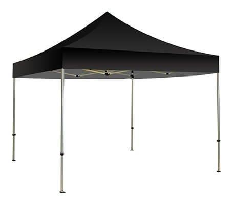 BannerBuzz Pop-up Canopy Zelt, Tragbar Blanko Himmel Schatten für Innen- Oder Außeneinsatz, Sofort Falt Pavillon Überdachungen 10' x 10' Schwarz (Innen Zelt Pop-up)