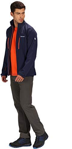 Regatta Herren Nielson V Water Repellent Wind Resistant Softshell Jacke, Navy, XXL -